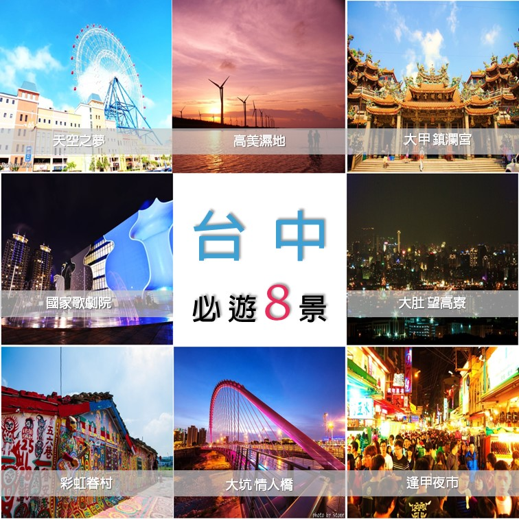 台中熱門旅遊景點
